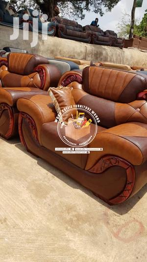 Quality Brown Leather Sofa | Furniture for sale in Ashanti, Kumasi Metropolitan