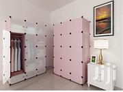 12 Cubes Plastic Wardrobe With Shoe Rack Pink | Furniture for sale in Greater Accra, North Kaneshie