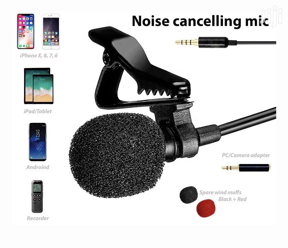 Pro Clip-on Lapel Lavalier Mic For Camera,PC,Phone,Tablets   Photo & Video Cameras for sale in Accra Metropolitan, Greater Accra, Ghana