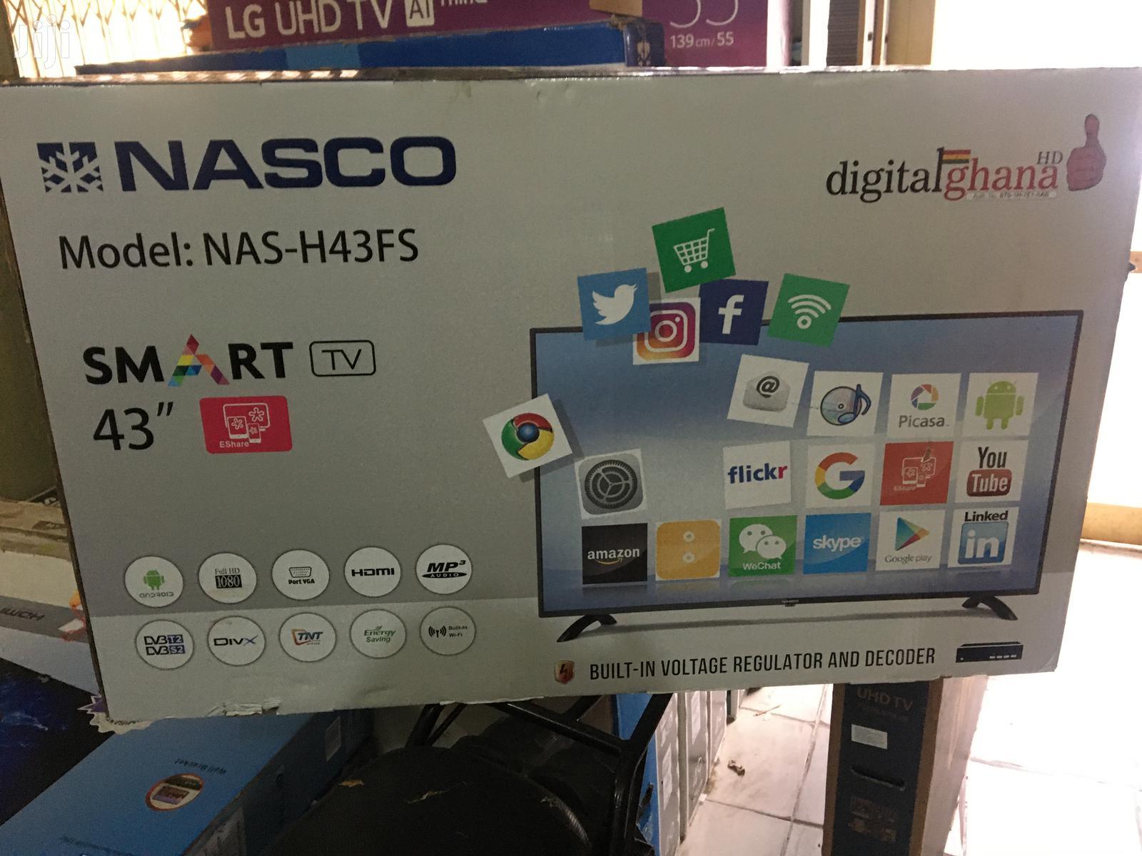 """Nasco 43""""Digital Smart Satellite Full HD Led Tv"""