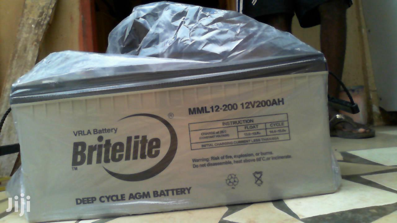 Britelite 12v 200ah Gel Battery | Solar Energy for sale in Accra new Town, Greater Accra, Ghana