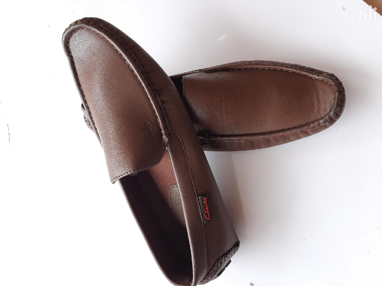 Archive: Brown Leather Clarks Loafers-sz 43