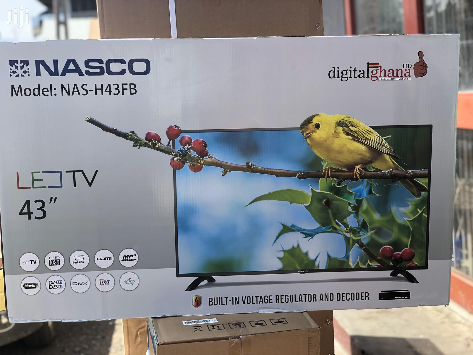 """Nasco 43""""Digital Satellite Full HD 1080 Led Tv"""