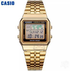 100% Original Casio Unisex Digital World Time Stainless Steel Watch
