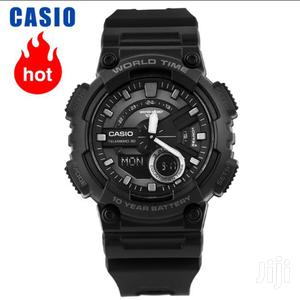 100% Original Casio Men's Sports Stainless Steel Watch With Resin Stra