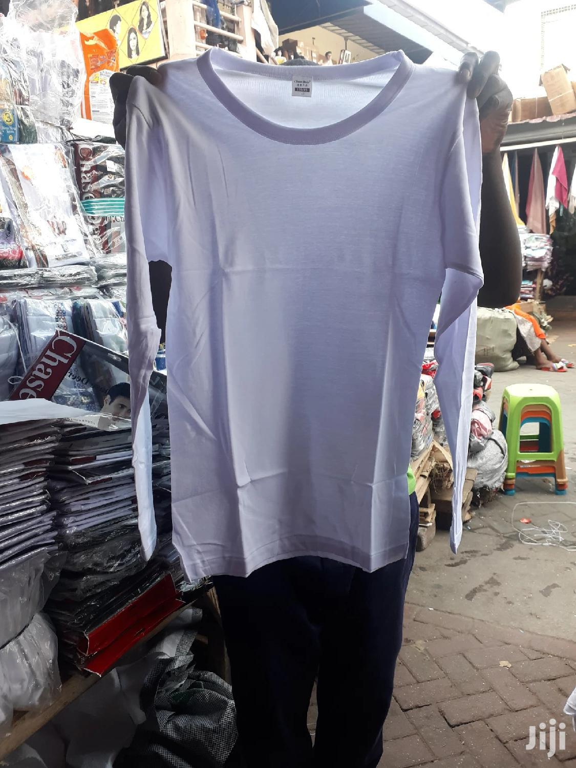 Original White Long Sleeves Under Shirt At Cool Price | Clothing for sale in Dansoman, Greater Accra, Ghana
