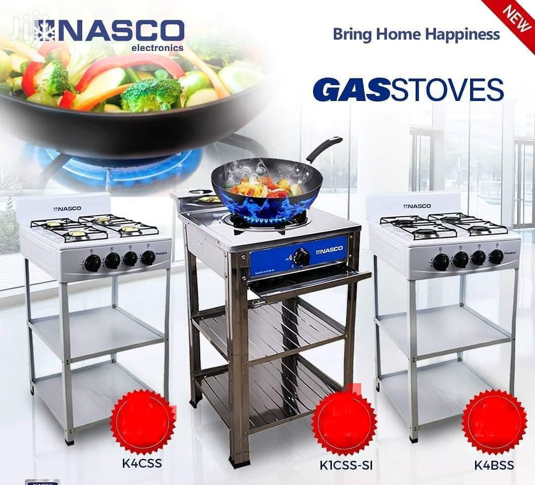 Nasco Gas Stove 4 Burner With Shelves and Stand