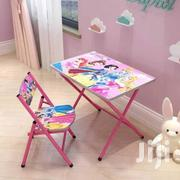 Kids Foldable Study Table And Chair   Children's Furniture for sale in Greater Accra, North Kaneshie