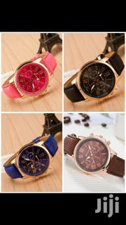 Geneva Leather Unisex Wrist Watches - Free Delivery | Watches for sale in Greater Accra, Accra Metropolitan