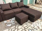 Brown Lshape🖤❤.Free Delivery | Furniture for sale in Greater Accra, Ga East Municipal