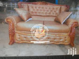 Curving Leather Wooden Sofa Set | Furniture for sale in Ashanti, Kumasi Metropolitan