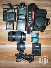 Canon EOS 60D 50mm And 18-135mm Lenses With Godox V860ii Flash | Photo & Video Cameras for sale in Greater Accra, Achimota