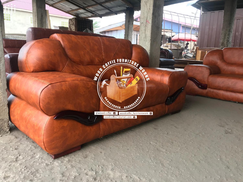 Simple Model Leather Sofa Furniture | Furniture for sale in Kumasi Metropolitan, Ashanti, Ghana