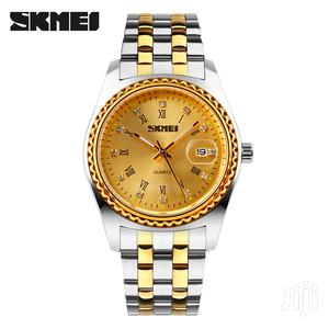 SKMEI Women Classic Quartz Watch Gold