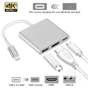 3 In 1 Type C USB 3.1 To USB-C 4K HDMI USB 3.0 Adapter Hub - Silver | Accessories & Supplies for Electronics for sale in Greater Accra, Akweteyman