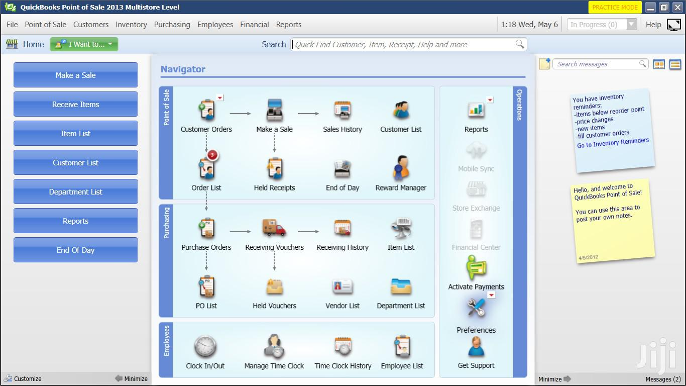 Quickbooks Point Of Sale Software | Multistore Function Enabled | Software for sale in Kumasi Metropolitan, Ashanti, Ghana