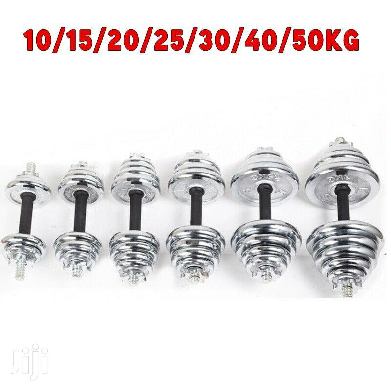 Dumbells Chrome . 25kg | Sports Equipment for sale in Cantonments, Greater Accra, Ghana