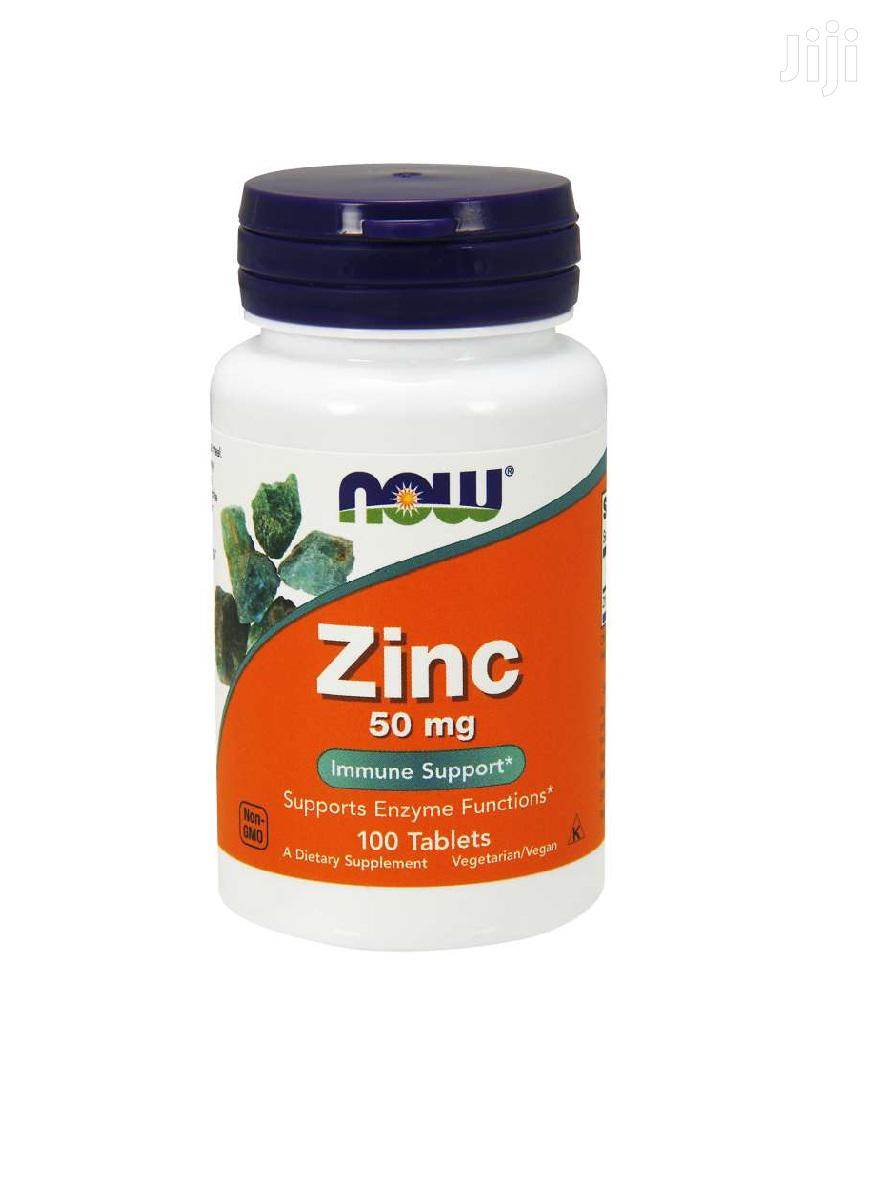 Supplement: NOW Zinc 50 Mg,100 Tablets | Vitamins & Supplements for sale in Achimota, Greater Accra, Ghana