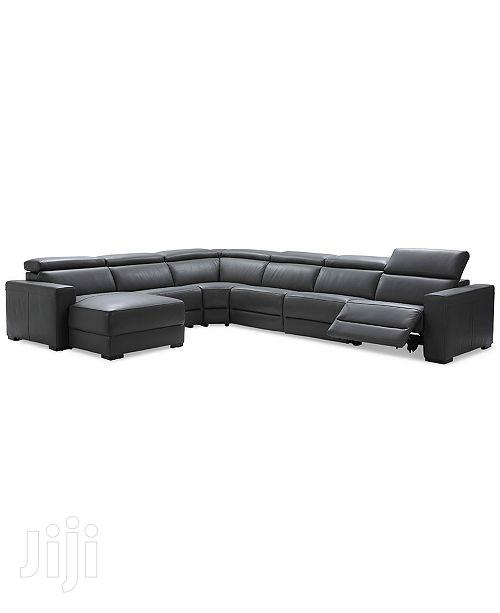 Nevio 6pc Leather L-Shaped Sectional Sofa With 2 Power Recliner | Furniture for sale in Adenta, Greater Accra, Ghana