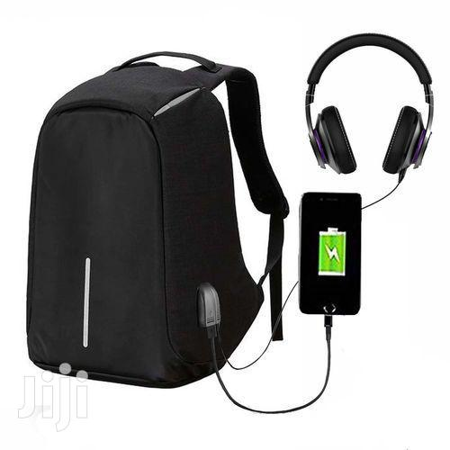 Anti - Theft Waterproof With USB Backpack - Black | Bags for sale in Madina, Greater Accra, Ghana