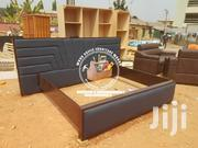 Wooden Leather Bed | Furniture for sale in Ashanti, Kumasi Metropolitan