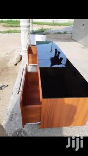 TV Stand Made With Wood And Glass   Furniture for sale in Greater Accra, Odorkor