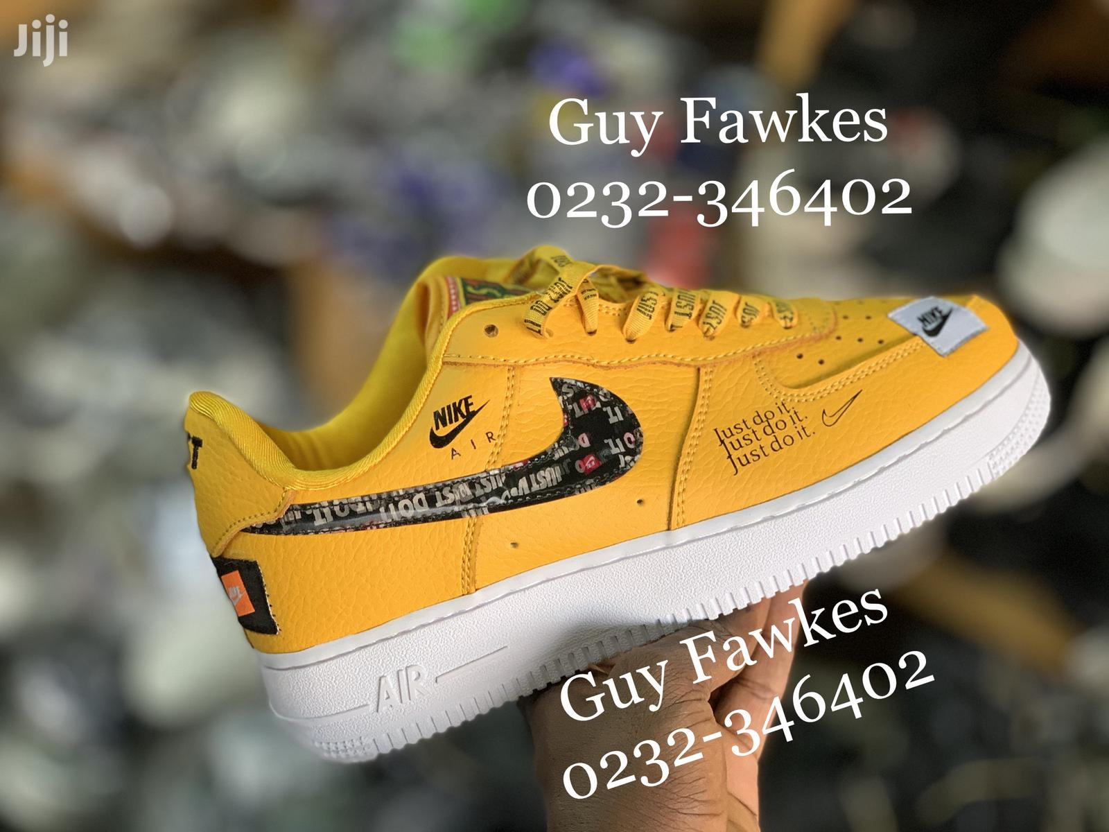 air force 1 just do it yellow
