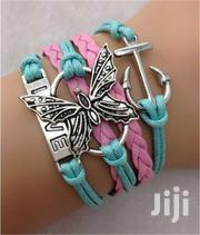 LOVE Antique Silver Leather Charm Bracelet Butterfly   Jewelry for sale in Greater Accra, Ga South Municipal