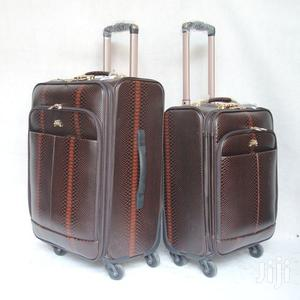 2 Set Leather Trolley Suitcase Travelling Bag
