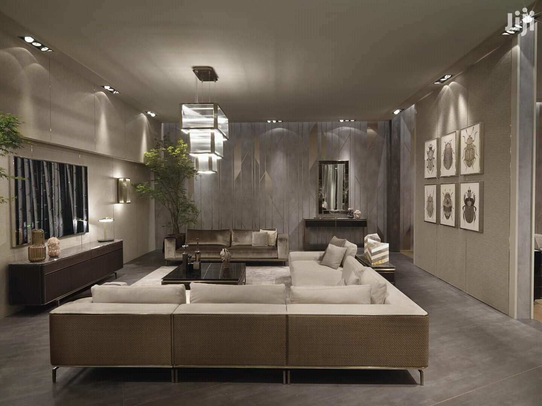 False Design Or Plasterboard Ceiling