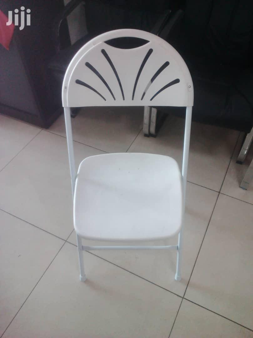 Folding Fan White Chair