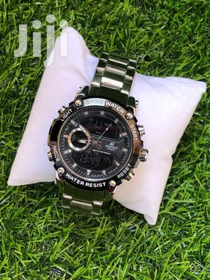 Casio Edifice Analogue and Digital Silver Watch