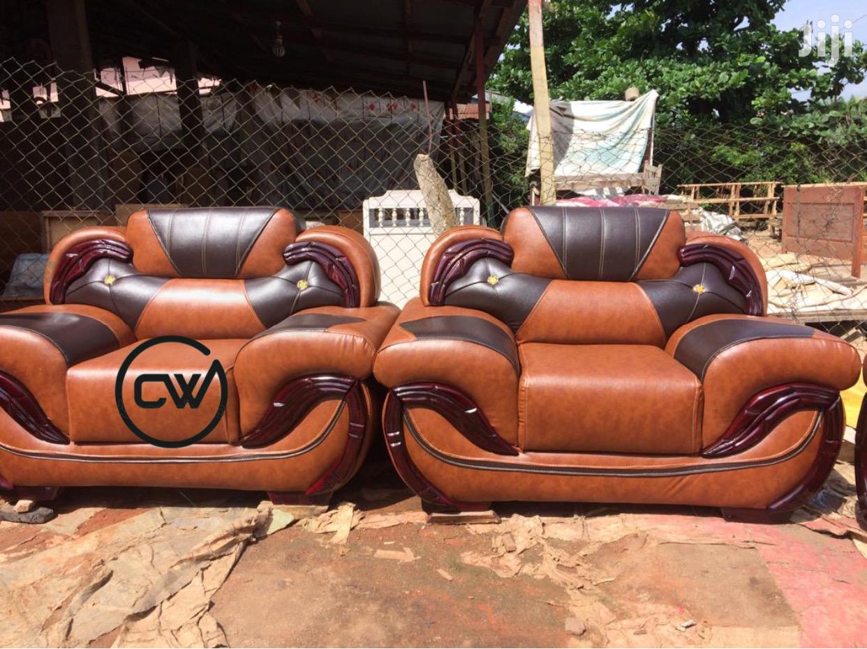 Quality Leather Living Room Sofa Set