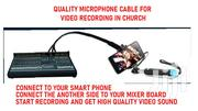 Microphone Cable For Recording Video Sound Using Your Phone | Accessories & Supplies for Electronics for sale in Greater Accra, Adenta Municipal