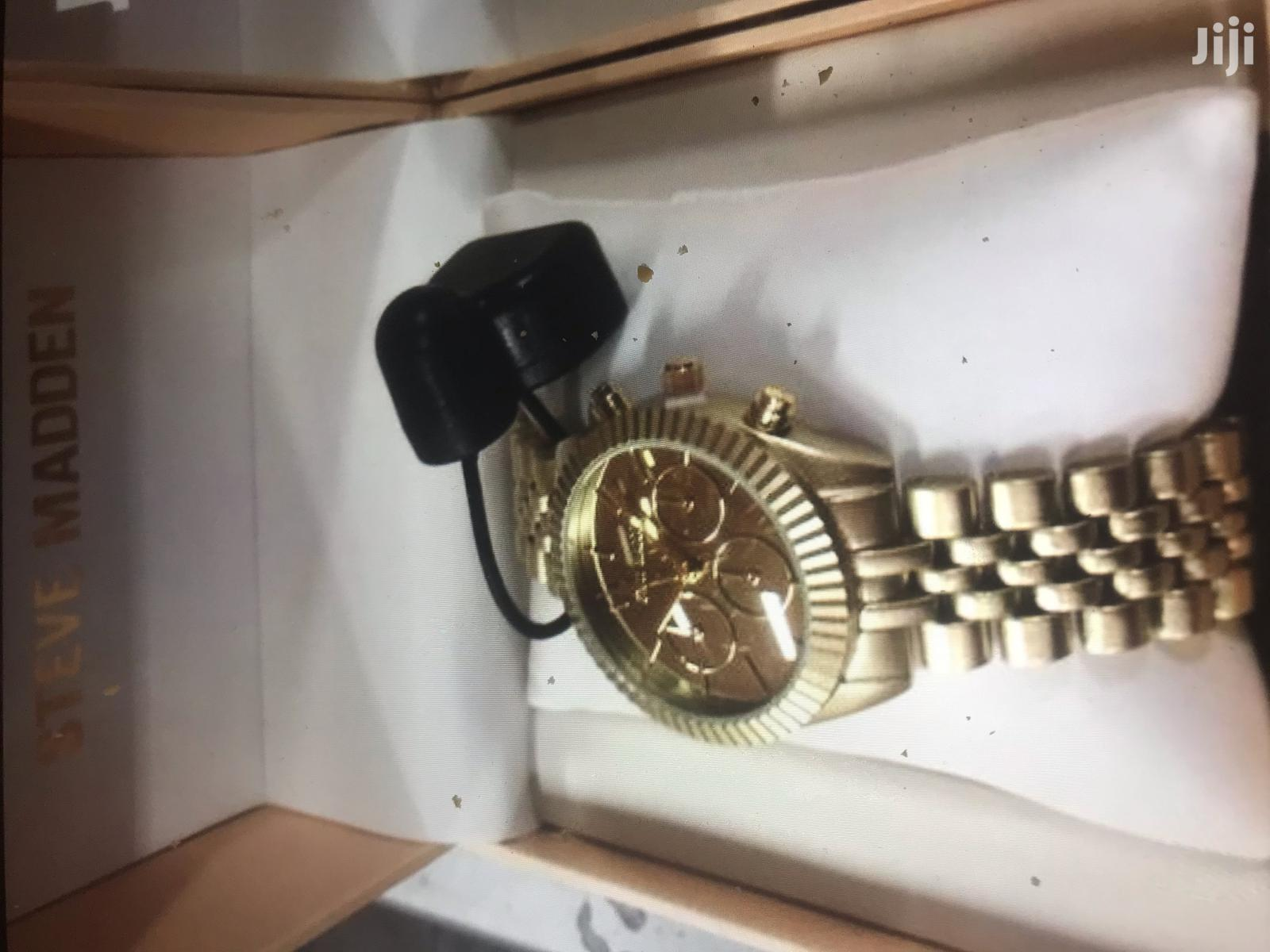Steve Madden Ladies Gold Watch