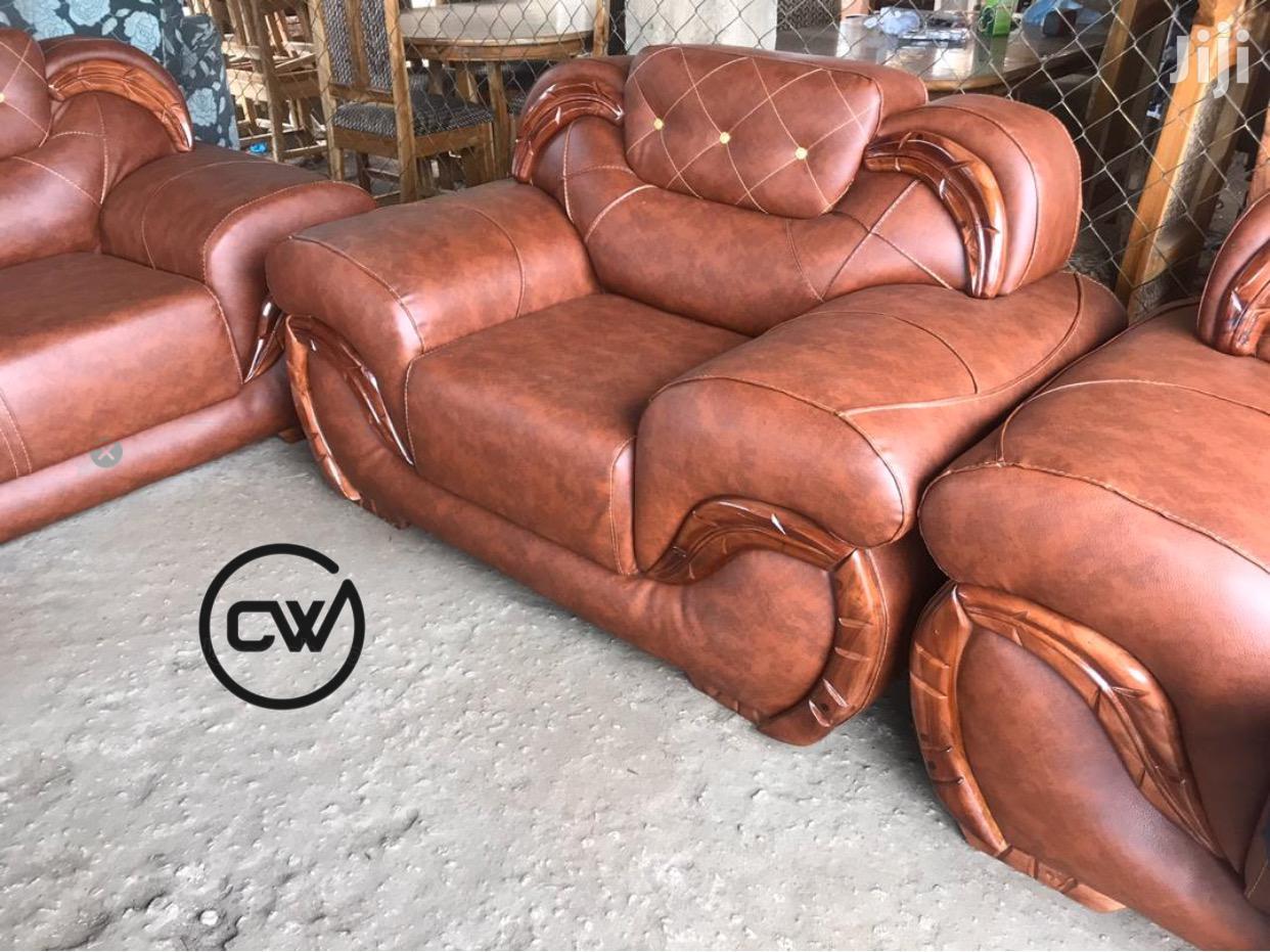 Leather Sofa Set | Furniture for sale in Kumasi Metropolitan, Ashanti, Ghana