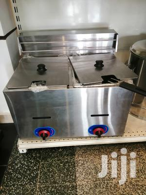 Gas Pure Stainless Deep Fryer Double Cabin Commercial
