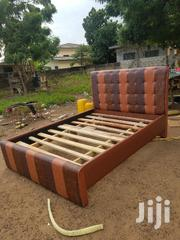 Brown New Design Double Bed Frame | Furniture for sale in Greater Accra, Madina