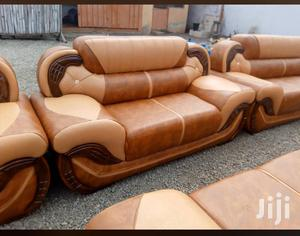 Leather Sofa Set❤❤🖤. Free Delivery | Furniture for sale in Greater Accra, Adabraka