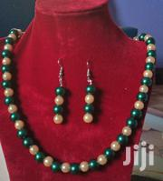 Emerald Green and Natural Cream Pink Pearl Necklace | Jewelry for sale in Ashanti, Kumasi Metropolitan