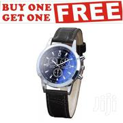 Platinum Luxury Leather Analog Wrist Watch - Black | Watches for sale in Greater Accra, Accra Metropolitan