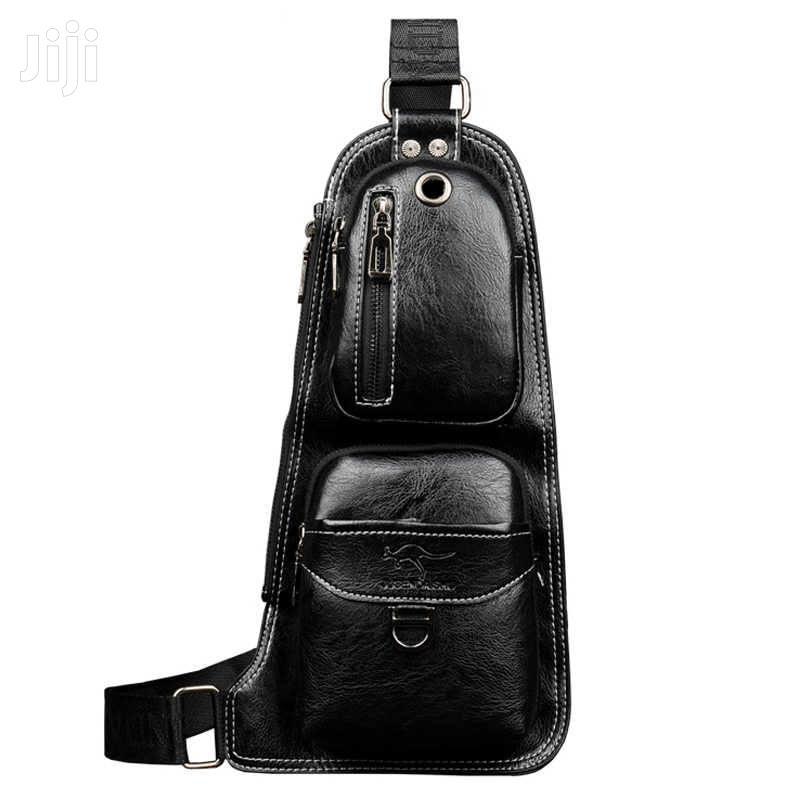 Black Original Leather Chest Bag