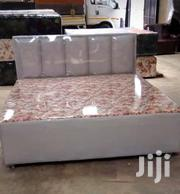 Leather And Cloth Bed | Furniture for sale in Greater Accra, Kanda Estate