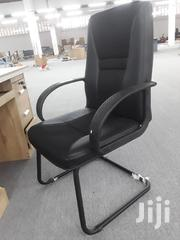 Visitors/Conference Chair Black Leather | Furniture for sale in Greater Accra, Achimota
