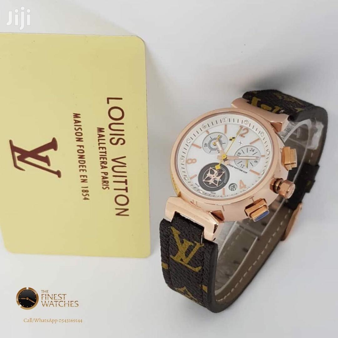 Original Louis Vuitton Leather Watch | Watches for sale in Accra Metropolitan, Greater Accra, Ghana
