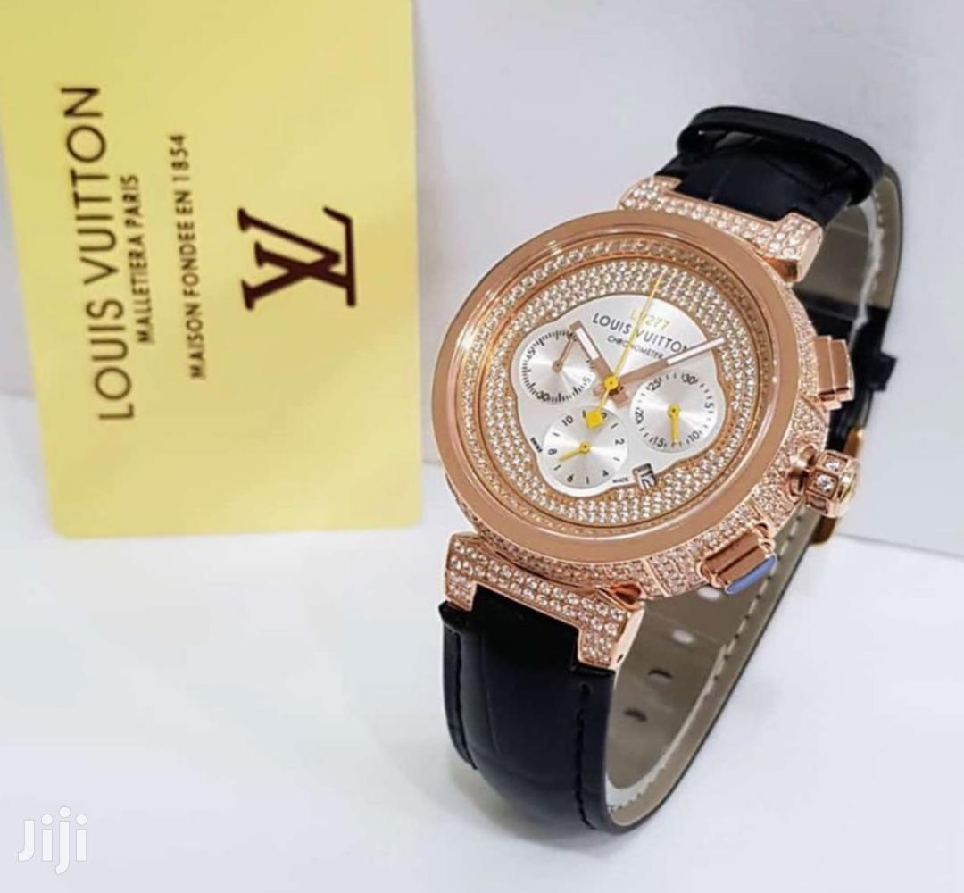 Original Louis Vuitton Leather Watch