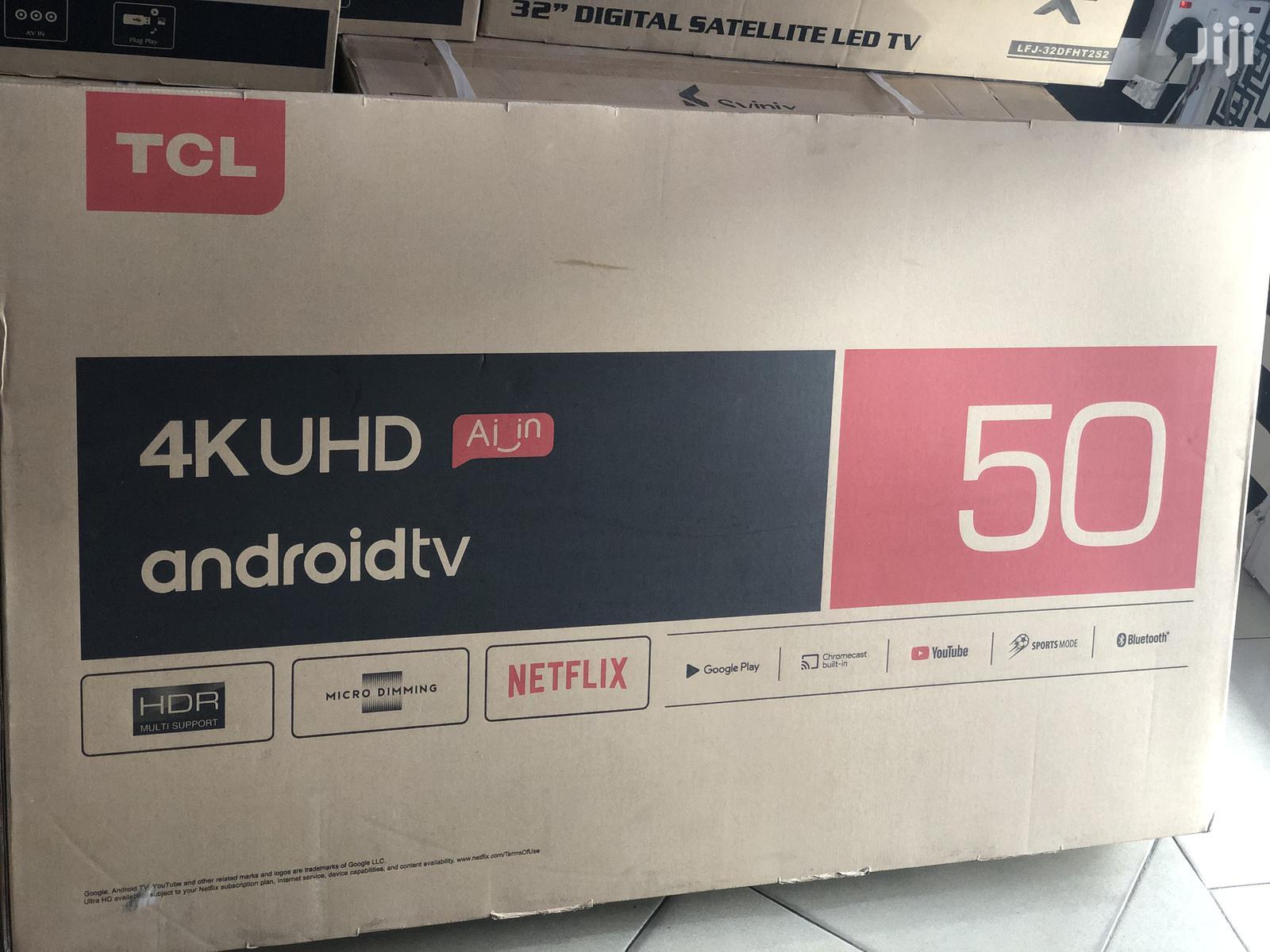 """TCL 50"""" 4K Ultra HD Smart LED TV 50p65us-2019 (Black)"""