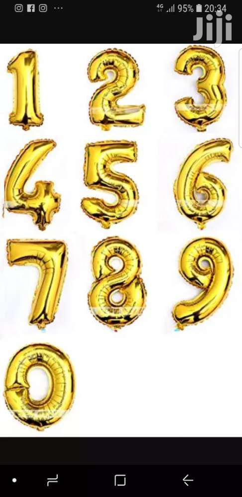 Archive: Number Foil Ballon