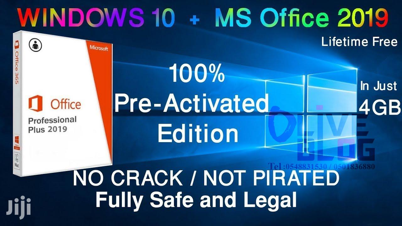 Windows 10 Pro(2020 Update) Version 2004 + Office 2019 (Pre-activated) | Software for sale in Dansoman, Greater Accra, Ghana