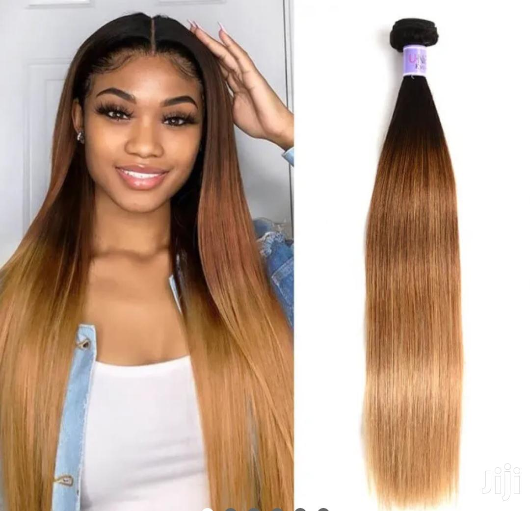 "100% Raw Indian Ombre Hair 24"" Wigcap"